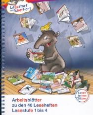 Arbeitsblätter zu den 40 Leseheften: Lesestufe 1 bis 4 - Lesestart mit Eberhart