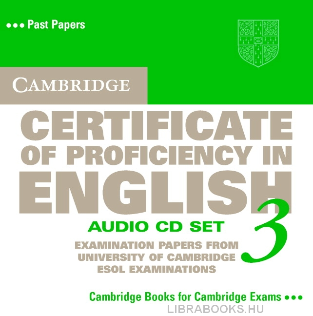 Cambridge Certificate of Proficiency in English 3 Official Examination Past Papers Audio CDs (2)