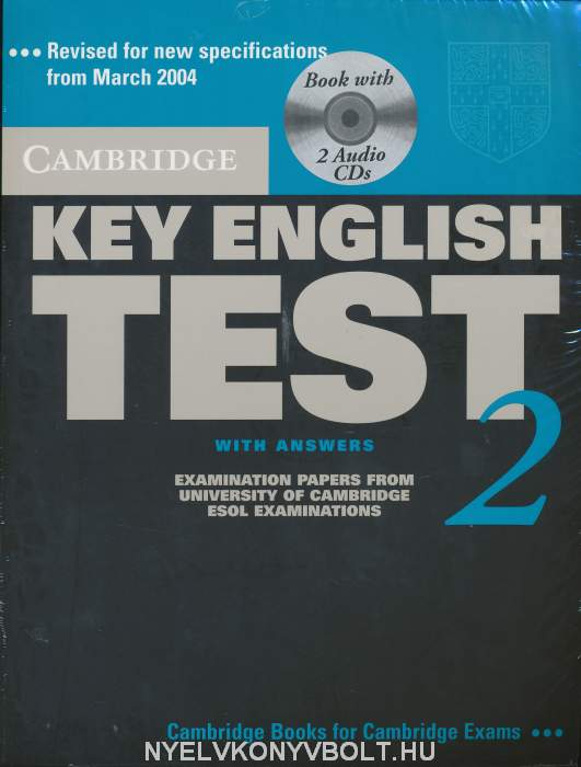 Cambridge Key English Test 2 Official Examination Past Papers 2nd Edition Student's Book with Answers and 2 Audio CDs Self-Study Pack