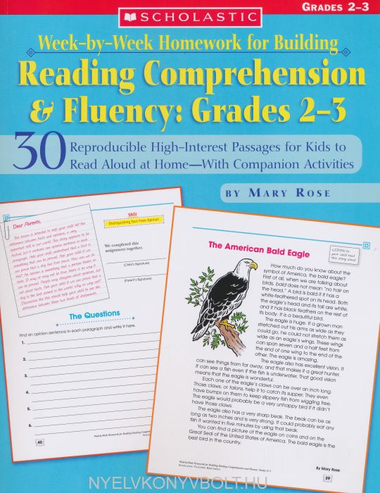Week-By-Week Homework for Building Reading Comprehension & Fluency: Grades 2-3: 30 Reproducible High-Interest Passages for Kids to Read Aloud at ... (Week-By-Week Homework for Bldg Reading C)