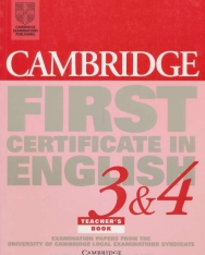 Cambridge First Certificate in English 3 & 4 Examination Papers Teacher's Book
