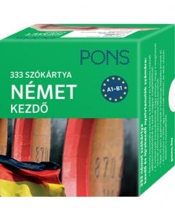 Pons Szókártyák A1-A2 - Német kezdőcsomag - 333 szó