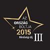 Ország Boltja 2015 - Minőségi díj - Könyv, CD, DVD - 3. helyezett