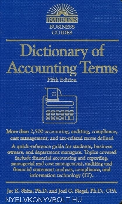 Barron's Dictionary of Accounting Terms