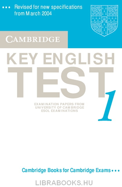 Cambridge Key English Test 1 Official Examination Past Papers 2nd Edition Audio Cassette