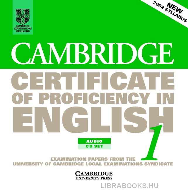 Cambridge Certificate of Proficiency in English 1 Official Examination Past Papers Audio CDs (2)