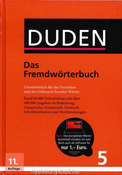 Duden 5 Das Fremdwörterbuch 11. Auflage