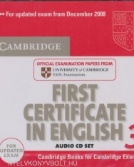 Cambridge First Certificate in English 3 Official Examination Past Papers Audio CDs (2) for Updated Exam 2008 (Practice Tests)