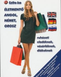 Életmentő angol, német, orosz ruházati eladóknak, vásárlóknak, diákoknak - Letölthető hanganyaggal