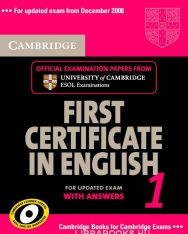 Cambridge First Certificate in English 1 Official Examination Past Papers Student's Book with Answers and 2 Audio CDs Self-Study Pack for Updated Exam 2008 (Practice Tests)