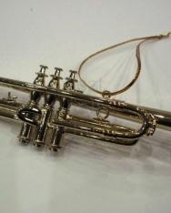 Karácsonyfadísz - trombita