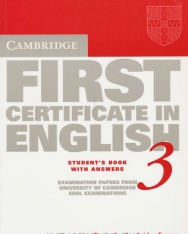 Cambridge First Certificate in English 3 Examination Papers Student's Book with Answers