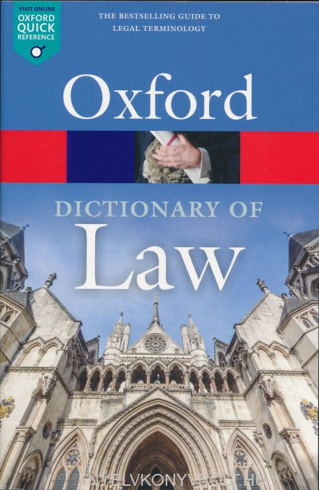 Oxford Dictionary of Law 9th Edition