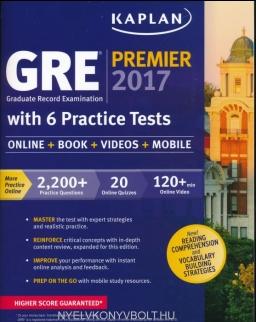 Kaplan GRE Premier 2017 with 6 Practice Tests: Online + Book + Videos + Mobile