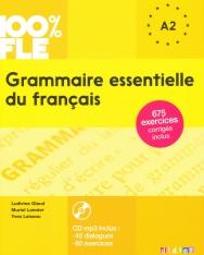 100% FLE - Grammaire essentielle du français niveau A2 - Livre + CD Audio MP3