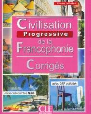 Civilisation de la francophonie - Niveau débutant - Corrigés