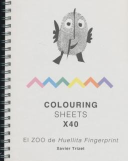 El ZOO de Huellita Fingerprint Colouring Sheets