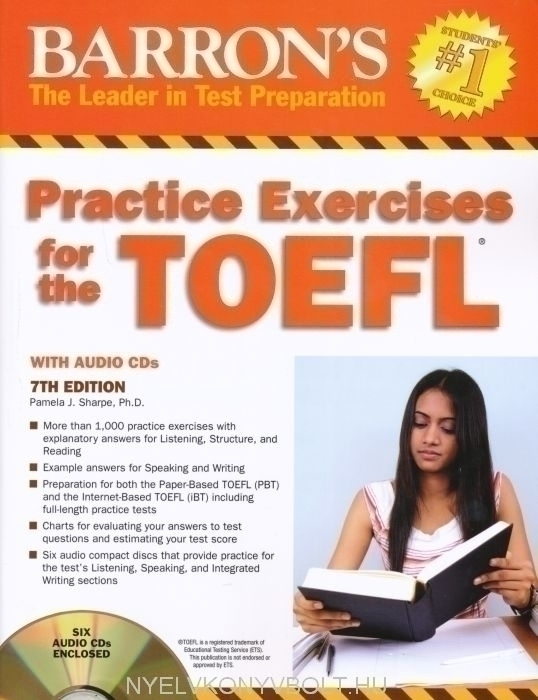 Barron's Practice Exercises for the TOEFL 7th Edition with 6 Audio CDs