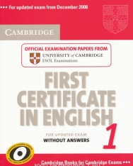Cambridge First Certificate in English 1 Official Examination Past Papers Student's Book without Answers for Updated Exam 2008 (Practice Tests)