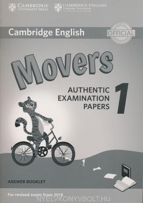 Cambridge English Movers 1 Answer Booklet for Revised Exam from 2018