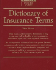 Barron's Dicitionary of Insurance Terms - 5th Edition