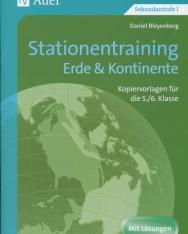 Stationentraining Erde & Kontinente: Kopiervorlagen für die 5./6. Klasse - Mit Lösungen