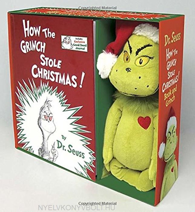 Dr Seuss: How the Grinch Stole Christmas! Book and Grinch