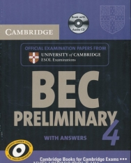 Cambridge BEC Preliminary 4 Official Examination Past Papers Student's Book with Answers and Audio CD Self-Study Pack