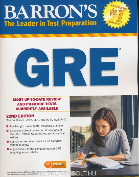 Barron's GRE, 22nd Edition