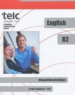 TELC English B2 Vizsgafelkészítő könyv (8 teljes feladatsor + 4 Cd)