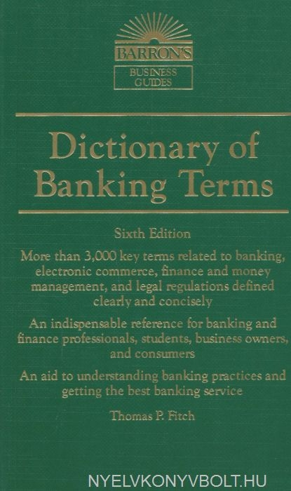 Barron's Dictionary of Banking Terms