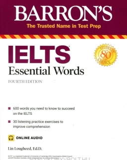 IELTS Essential Words Barron's Test Prep with Online Audio Fourth edition