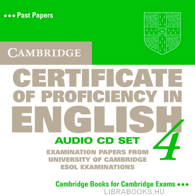 Cambridge Certificate of Proficiency in English 4 Official Examination Past Papers Audio CDs (2)