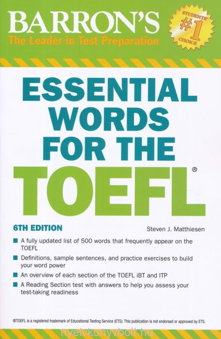 Barron's Essential Words for the TOEFL 6th Edition
