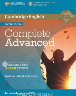 Complete Advanced Second edition Student's Book without answers with CD-ROM