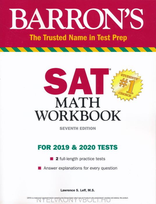 Barron's SAT Math Workbook - For 2019 & 2020 Tests - 7th Edition