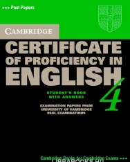Cambridge Certificate of Proficiency in English 4 Official Examination Past Papers Student's Book with Answers and 2 Audio CDs Self-Study Pack
