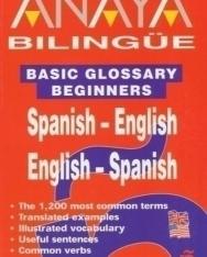 Anaya Bilingüe Basic Glossary Beginners Spanish-English/Egnlish-Spanish