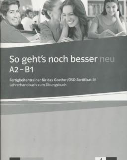 So geht's noch besser neu A2-B1 Lehrerhandbuch