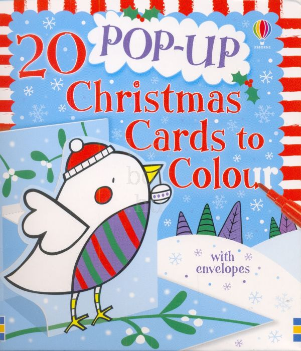 20 Pop-up Christmas Cards to Colour (Usborne Cards to Colour)