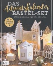 Das Adventskalender Bastel-Set Mit Papierbogen und Anleitungen: 24 Geschenkhäuschen aus Papier falten und dekorieren