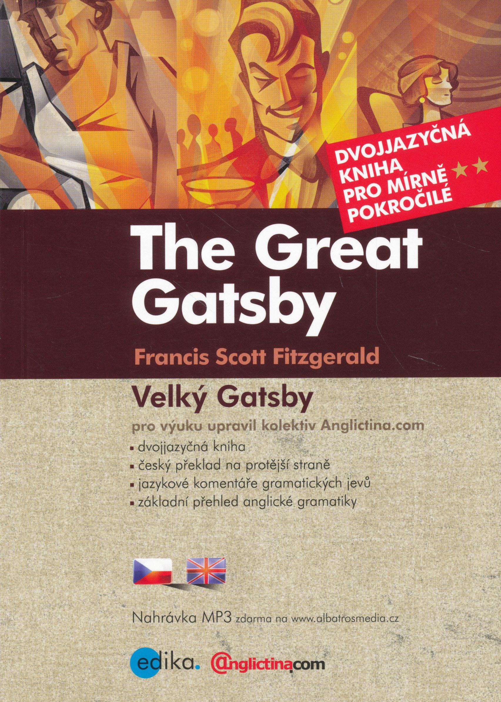 Francis Scott Fitzgerald: Velký Gatsby - Dvojjazyčná kniha + CD MP3