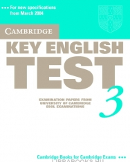 Cambridge Key English Test 3 Official Examination Past Papers 2nd Edition Student's Book
