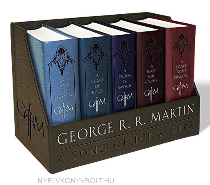 George R. R. Martin: A Song of Ice and Fire (5 Volumes) Leather-Cloth Boxed Set