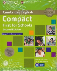 Compact First for Schools Pack 2nd Edition - Student's Book without Answers with CD-ROM and Workbook with Audio CD