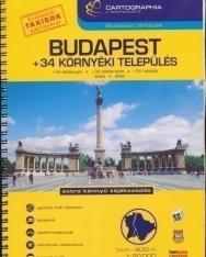 Budapest + 34 környéki település autóatlasz  (1:20000)