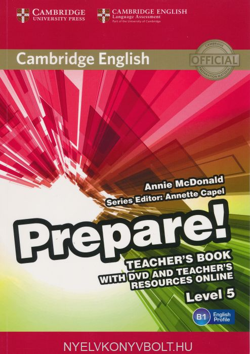 Cambridge English Prepare! Teacher's Book Level 5 with DVD & Teacher's Resource Online