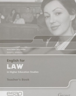 English for Law in Higher Education - Teacher's Book