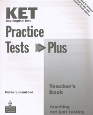 KET Practice Tests Plus Teacher's Book