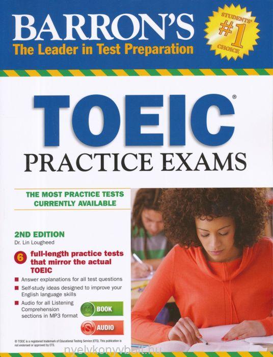 Barron's TOEIC Practice Exams with Mp3 Audio CD - 2nd Editon
